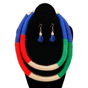 Jewelry - Tribal Thread Wrapped Necklace